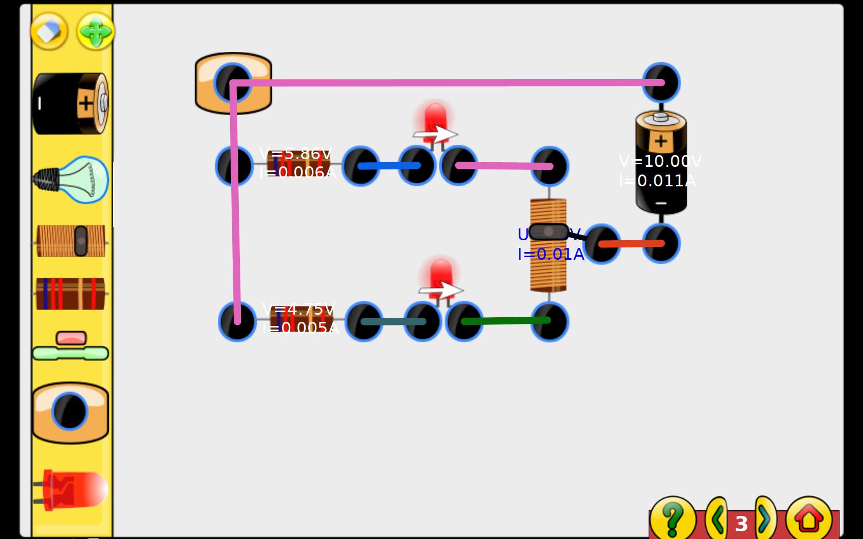 Gcompris Screenshot Of Circuit In Falstad Simulator